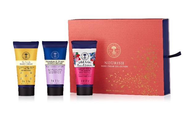Nourish Hand Cream Collection with products