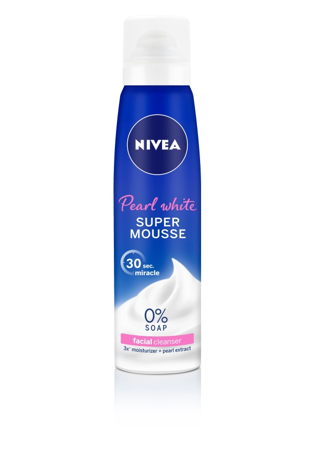 NIVEA Pearl White Super Mousse, $9.90 for 150ml
