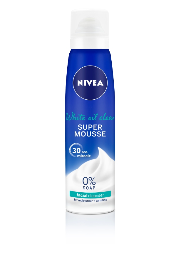 NIVEA White Oil Super Mousse, $9.90 for 150ml