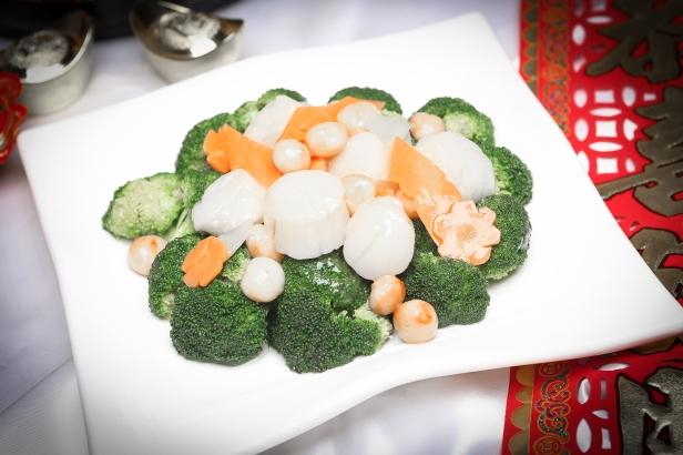 GMJ 夏果西兰花带子 Broccoli with Macadamia Nuts & Fresh Scallop