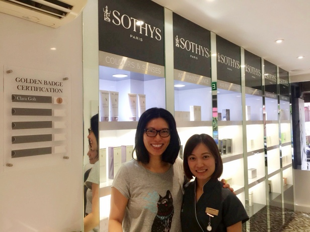 Sothys preimum salon boat quay - with Clara